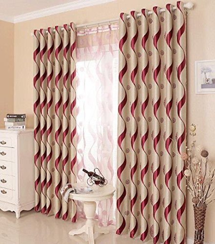 LQF Home Fashion Extra Wide Width Thermal Insulated Blackout Curtain Room Darkening Stripe Plaid Checkered Window Curtains Panels (One Panel) , Red , W54 by L84 inch