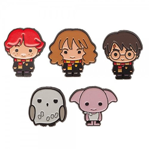 Harry Potter Button - Harry Potter Characters 1 Inch Tall Metal Enamel Costume Set of 5 Pins