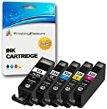 5 (FULL SET) Compatible PGI-525 CLI-526 Ink Cartridges for Canon Pixma iP4800 iP4840 iP4850 iP4950 MG5120 MG5140 MG5150 MG5240 MG5250 MG6140 MG6150 MG8120 MG8140 MG8150 iX6550 MX885 - High Capacity