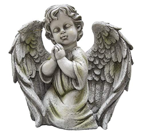 (Tremont Floral Large Praying Cherub Angel Boy - Perfect Garden Or Home Decoration or Unique)