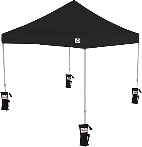 Impact Canopy 283400102 Outdoor Tent, 10 x 10 Pop Up Canopy, Steel Frame, Weight, Roller Bag, Bags Roller, Black