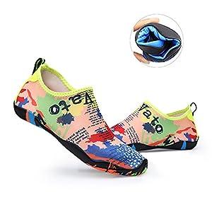 Water Shoes Mens Womens Beach Shoes Swim Shoes Quick-Dry Aqua Socks Pool Shoes for Surf Yoga Water Aerobics Map 9 B(M) US Women / 8 D(M) US Men
