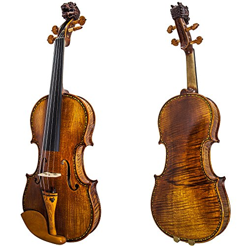 SKY Premier 4/4 Size Artist Violin Outfit Hand-made with Boxwood Parts Antique Style Beautiful Dragon Head