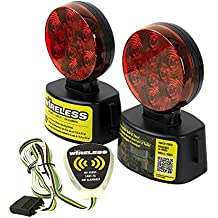 Blazer C6304 LED Round Wireless Towing Light Kit - Under 80-Inches - Red