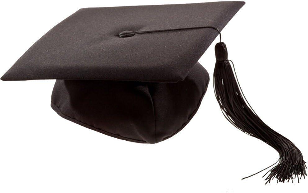 2 X Deluxe Bachelor Doctor Doctor College Mortar Board Hat