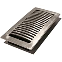 Decor Grates LA410-NKL 4-Inch by 10-Inch Aluminum Floor Register, Nickel by Decor Grates