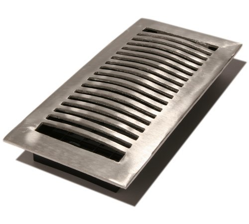 Decor Grates LA410-NKL 4-Inch by 10-Inch Aluminum Floor Register, Nickel by Decor Grates