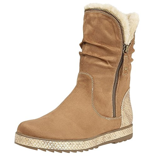 Calf Lotus Length Tan Women Lotus Boots Jadis Jadis C1Iw1q