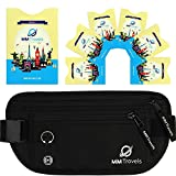 MM Travels Money Belt For Travel with RFID Blocking Sleeves Set - Passport Keeper - Waterproof Travel Belt - Hidden Belt Travel Wallet - Travel Waist Pack - Travel Money Pouch - Travel Fanny Pack by