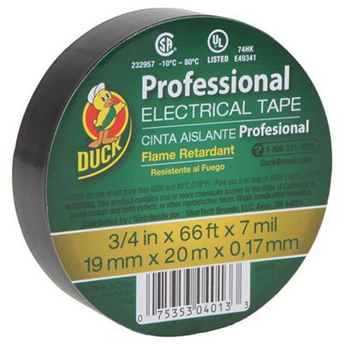 duck-brand-393119-professional-electrical-tape-075-inch-by-66-feet-single-roll-black