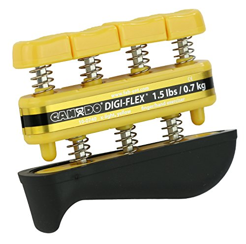 - CanDo 10-0740 Digi-Flex Hand Exerciser, Finger 1.5 lb/Hand 5.0 lb, Yellow-X-Light