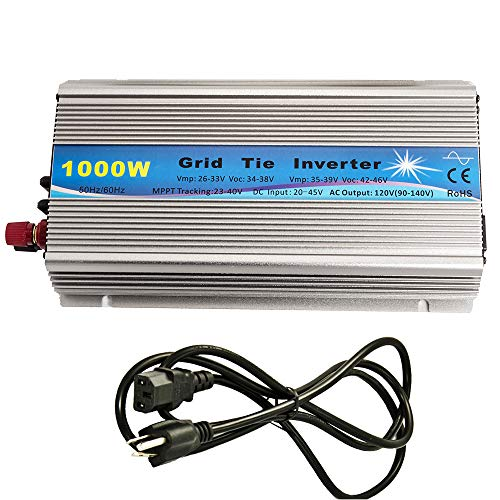 iMeshbean Premium 1000 Watts Grid Tie Inverter MPPT Pure Sine Wave Solar Panel System 22-45V Input to 90V-140V Output Stackable USA