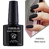 Coscelia Matte Top Coat Soak Off UV LED Gel Polish Nail Art Matting Sealer 10ml