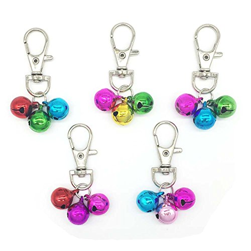 Pet Collar Bells Charms Pendants for Dog Cat Collars Necklace Decoration Ornaments Accessories (5 Pcs)