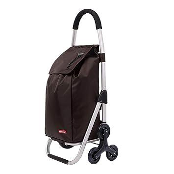 Carritos de la compra Carro de Compras comestibles Carrito de Equipaje de Viaje Plegable de Aluminio Gran Capacidad portátil (Color : Brown): Amazon.es: ...