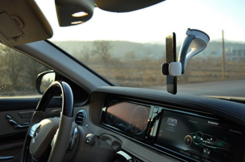 Mechathronika iMount 360, Universal Car Cradle, Adjustable mount designed for all smart phones, iPhone 7 6s/6 Plus/6s Plus/5s/5c/5/SE, Samsung Galaxy S6 Note, LG, HTC Start driving your car safer!