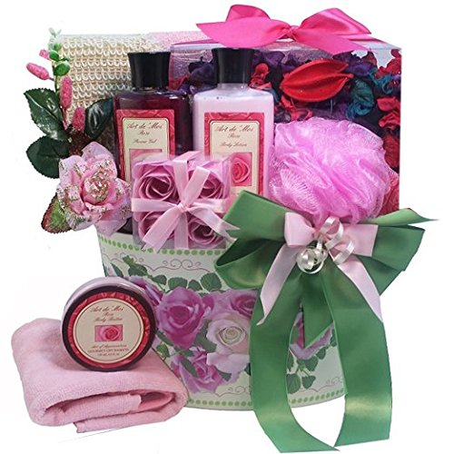 Mums English Rose Spa Bath and Body Gift Basket Set