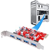 [4 Ports for Mac Pro]Inateck 4 Ports PCI-E to USB 3.0 Expansion Card for Mac Pro (Early 2008 to 2012 Late Version) - Interface USB 3.0 4-Port Express Card Desktop - No Additional Power Connection Needed