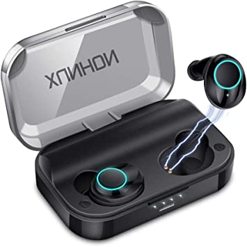 Amazon Com True Wireless Earbuds Bluetooth 5 0 Auto Pairing Wireless Earphones Ipx7 Waterproof Sport Bluetooth Headphones With 3500mah Charge Case And Mic Hd Calls Noise Reduce Earbuds For Iphone Android Black Electronics