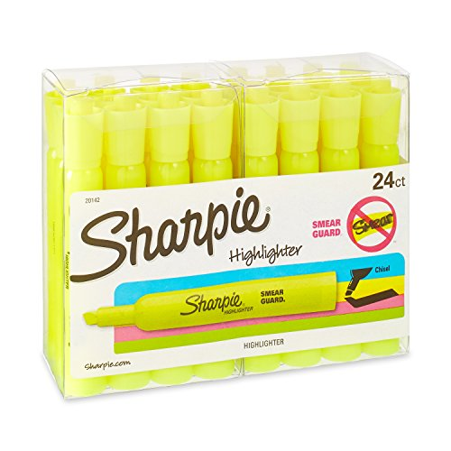 Sharpie Accent Tank Style Highlighters, Fluorescent Yellow, 24 Highlighters (20142) by Sharpie (Image #4)