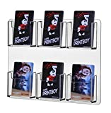Marketing Holders Clear Acrylic Wall Mountable Vertical 6 Pocket Business Card Holder