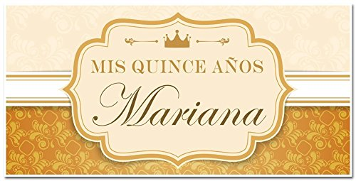 Mis Quince Quinceañera Fifteenth Birthday Celebration Banner - Personalized Party (Fiesta Party Personalized Banner)