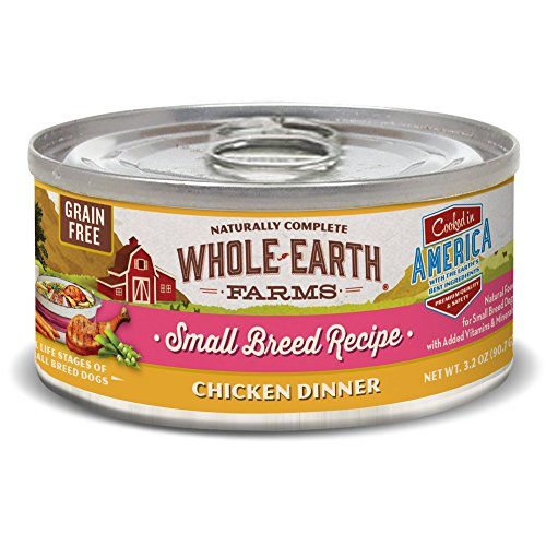 Merrick Whole Earth Farms Grain Free Small Breed Chicken Dinner Canned Dog Food, 3.2 oz. Case of 24