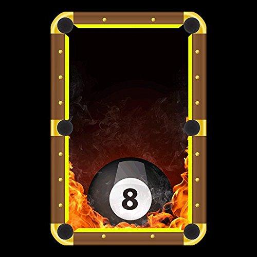 Amazon Com 8 Ball On Fire Billiard Cloth Pool Table Felt