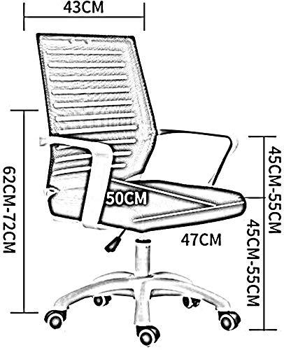 DBL Lumbalstöd främjar modern ergonomisk stol utseende ryggrad anpassning konferensbord andningsbara nätskrivbordsstolar (färg: Grön, storlek: Svart ram)