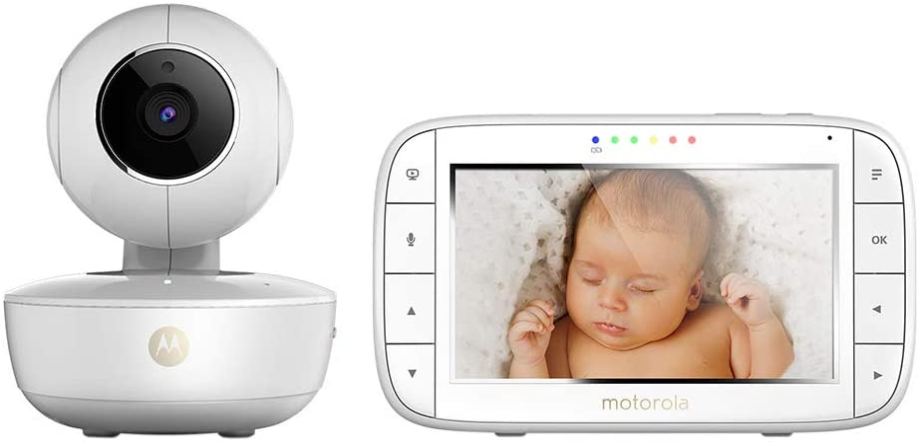 mode /éco et vision nocturne blanc Motorola MBP 36S//SC Moniteur pour b/éb/é avec /écran LCD couleur 3,5