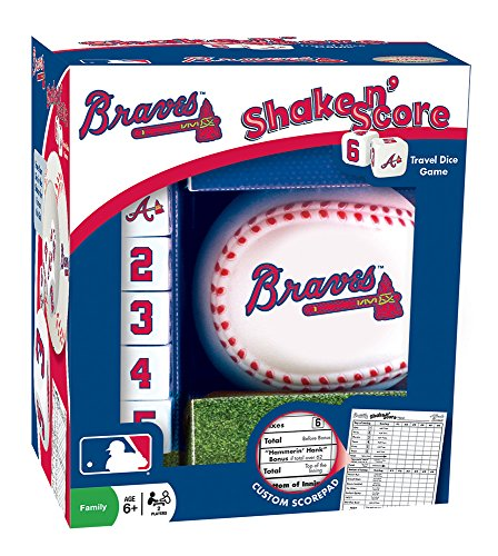 MasterPieces MLB Atlanta Braves Shake 'n Score Dice Game ()