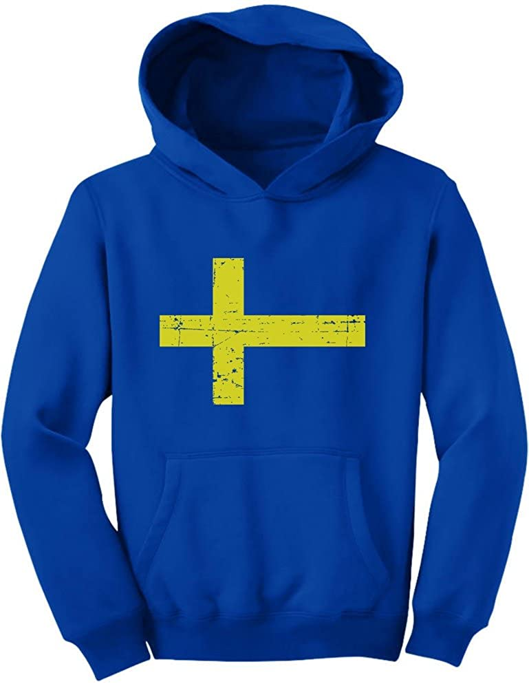 TeeStars Vintage Sweden Flag Retro Style Swedish Youth Hoodie