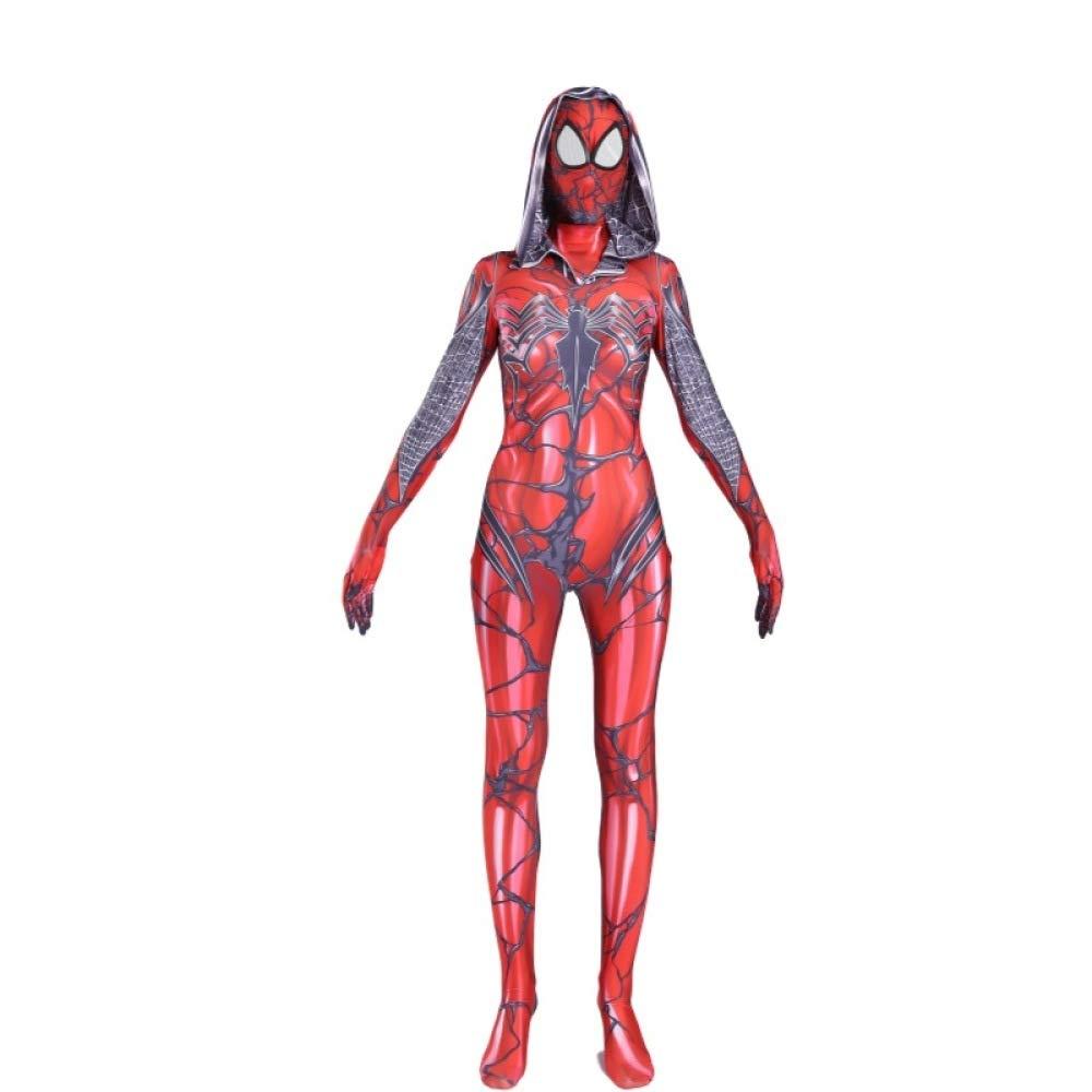 Costumi e travestimenti Pentole e padelle DSFGHE velocità di Stampa 3D Spiderman Costume Cosplay Collant di Un Pezzo Costume di Halloween Party Movie Puntelli Abbigliamento Prestazioni,Women-M