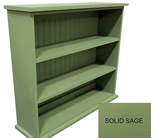 Solid Wood Bookcase (Solid Sage) Many Colors Available
