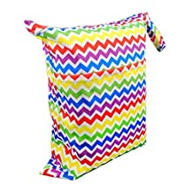 LOVE MY Solid Baby Wet and Dry Cloth Diaper Bag,(The rainbow stripe)