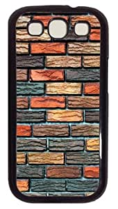 Samsung Galaxy S3 Case Cover - Brick Wall Customzie Case for Samsung S3 SIII I9300 - Polycarbonate - Black