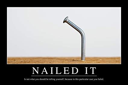 Amazon Com Nailed It Funny Demotivational Poster 12x18 Inch