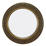 Majestic Mirror Antique Traditional Round Gold Framed Glass Accent Wall Mirror