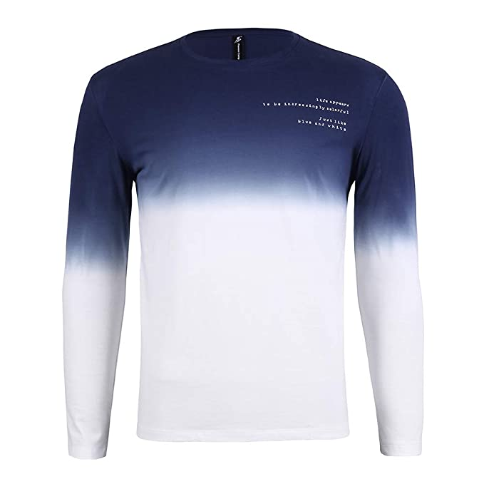new style of 2019 latest fashion quality and quantity assured Pioneer Camp Men's Long Sleeve T Shirts Casual Novelty Cotton Gradient  Designer T-Shirts