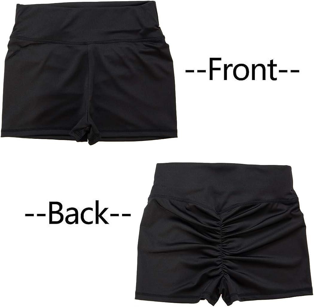 FUT/_Forever Yoga Shorts for Women High Waist Butt Scrunch Booty Spandex Gym Workout Shorts