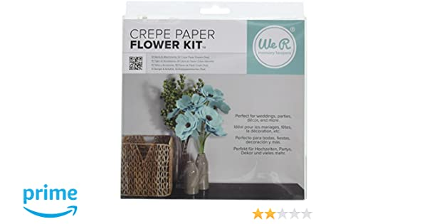 Amazon.com: We R Memory Keepers Crepe Paper Flowers Teal