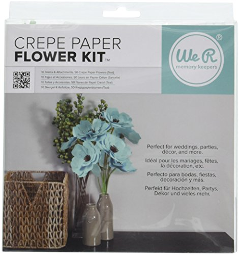 Memory Keepers Paper Kits - We R Memory Keepers Crepe Paper Flowers Teal