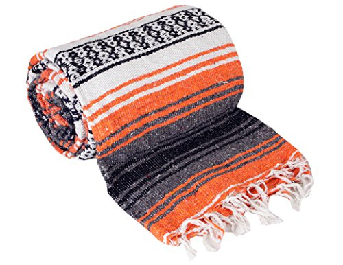Authentic Mexican Falsa Blanket Orange product image