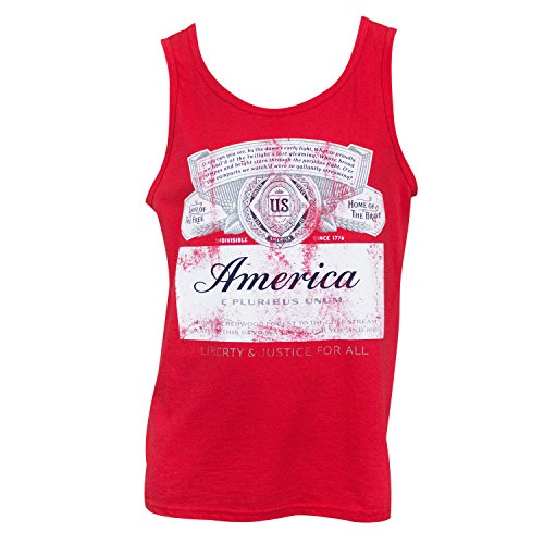 Budweiser America Tank Top X-Large Red ()