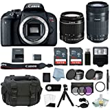Canon EOS Rebel T7i Bundle With EF-S 18-55mm IS STM & EF-S 55-250mm IS STM Lens + Canon T7i Camera Advanced Accessory Kit Includes EVERYTHING You Need To Get Started (20 Items - Value $100)