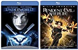 Resident Evil: Afterlife + Underworld Evolution Blu Ray movie Set - Vampires & Lycans
