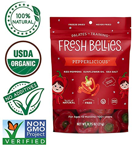 Fresh Bellies Toddler Snack, Pepperlicious.75oz (Pack of 3)