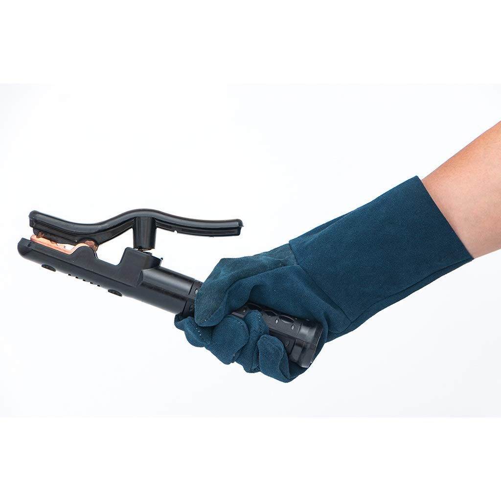 Zyj Welding Gloves 10 Pairs of 33cm Long Leather Soft Labor Insurance Work Gloves Wear Heat Insulation Anti-scalding by Zyj (Image #3)