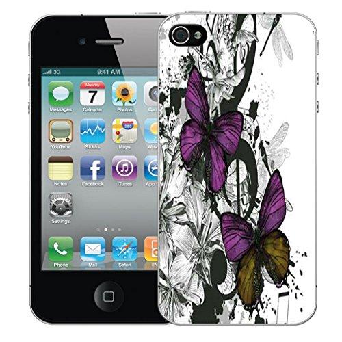 Mobile Case Mate iPhone 4 4s clip on Dur Coque couverture case cover Pare-chocs - cherished Motif avec Stylet