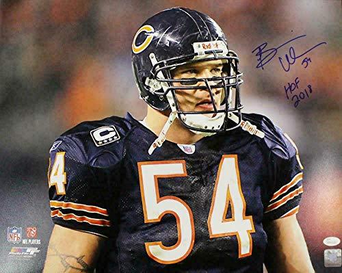 - Signed Brian Urlacher Photograph - 16x20 HOF 21701 PF - JSA Certified - Autographed NFL Photos